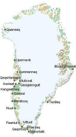 Grønlandskort